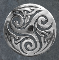 TRINITY - Sterling Silver Celtic Brooch By Jen Delyth