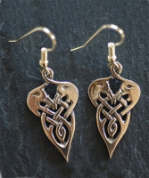 CRANES - Bronze Celtic Earrings