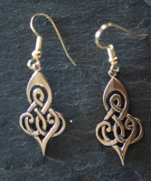 DOUBLE SPIRAL  - Bronze Celtic Earrings