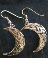 MOON  - Bronze Celtic Earrings