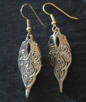 RAVENS  - Bronze Celtic Earrings