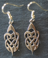TRIBAL HEARTS  - Bronze Celtic Earrings