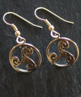 TRINITY  - Bronze Celtic Earrings