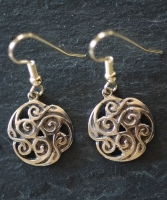 TRISKELION  - Bronze Celtic Earrings
