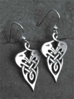 CRANES - Sterling Silver Celtic Earrings