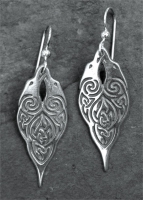 RAVENS - Sterling Silver Celtic Earrings