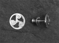 TRINITY - Sterling Silver Stud Celtic Earrings