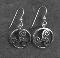 TRINITY - Sterling Silver Celtic Earrings