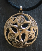BIRDS of RHIANNON - Large Bronze Celtic Pendant By Jen Delyth