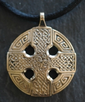 CELTIC CROSS - Large Bronze Celtic Pendant By Jen Delyth
