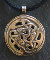 KATS - SIDHE - Large Bronze Celtic Pendant By Jen Delyth