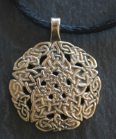 PENTACLE KNOT  - Large Bronze Celtic Pendant By Jen Delyth