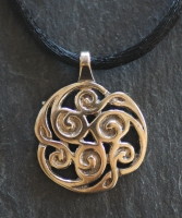 TRISKELION  - Large Bronze Celtic Pendant By Jen Delyth