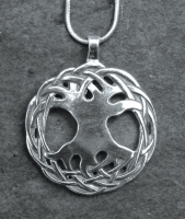 TREE of LIFE - Large Sterling Silver Celtic Pendant By Jen Delyth