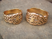 TREE OF LIFE 14K  SOLID GOLD WEDDING RINGS (price depends on options)