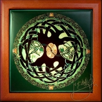 CELTIC TREE OF LIFE MANDALA Keepsake Box by jen delyth