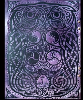 Celtic Owl Leather Sketch Album by Jen Delyth