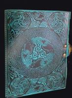 Celtic Ravens Leather Journal