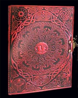 Sun and Moon Leather Journal
