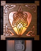 Celtic Tribal Heart Wood Mica Night lightjen delyth celtic art studio