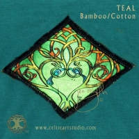 Celtic Tree Song COVID MASK artPATCH Canvas Field Bag By Jen Delyth
