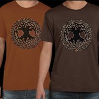 CELTIC TREE OF LIFE  Tshirt By Jen Delyth