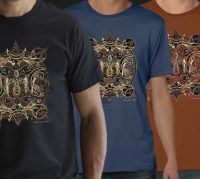 Celtic Wolf Moon Tshirt By Jen Delyth