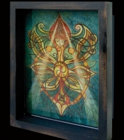 Brighid's Mantle Shadow Box by jen delyth