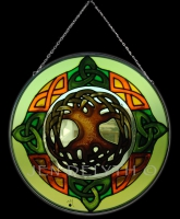 Tree of Life Celtic Art Stained Glass by Jen Delyth