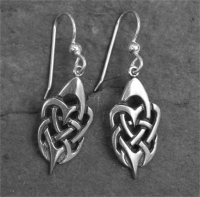 TRIBAL HEARTS - Sterling Silver Celtic Earrings