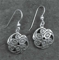 TRISKELION - Sterling Silver Celtic Earrings