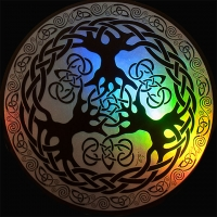 Yggdrasil spectrum STicker Window decal By Jen Delyth