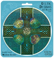 CELTIC CROSS Window decal By Jen Delyth