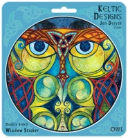 BLODEUWEDD the OWL Window decal By Jen Delyth