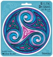 TRISKELE Window decal By Jen Delyth
