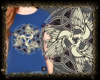 Celtic Doves - Peace Bella Tshirt By Jen Delyth