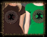 Celtic Tree of Life Women's Tshirt By Jen Delyth