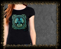Yggdrasil - World Tree Bella Tshirt By Jen Delyth
