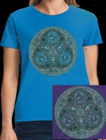 TRISKELION WOMEN'S GENTLE FIT T Shirt Keltic Designs By Jen Delyth
