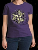 DOVES  - PEACE Women's Tshirt By Jen Delyth