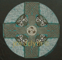CELTIC CROSS Short Sleeved T Shirt Keltic Designs By Jen Delyth