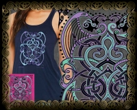 BARD SONG Triblend Flowy Tank By Jen Delyth