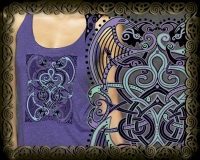 BARD SONG Triblend Racer Back Tank By Jen Delyth