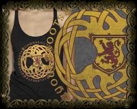 GAELIC ROOTS - peace Triblend Racer Back Tank By Jen Delyth