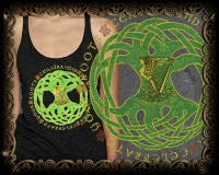 IRISH ROOTS Triblend Racer Back Tank By Jen Delyth