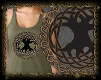 CELTIC TREE OF LIFE Triblend Racer Back Tank By Jen Delyth