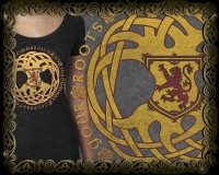 GAELIC ROOTS Triblend LS Tshirt By Jen Delyth