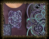 Celtic Doves - PEACE ON EARTh Triblend LS Tshirt By Jen Delyth