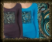 the WEAVERS spiral dance Triblend LS Tshirt By Jen Delyth