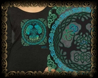 Yggdrasil - World Tree Triblend LS Tshirt By Jen Delyth
